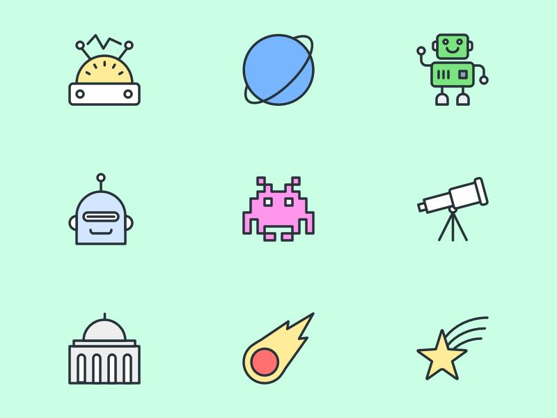 Free Science Icon Set
