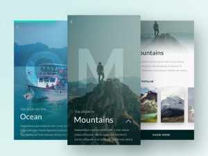 Free Travel App UI PSD