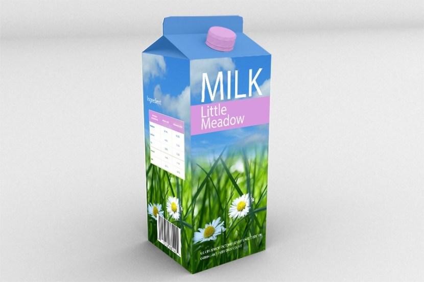 Milk Box Mockup PSD