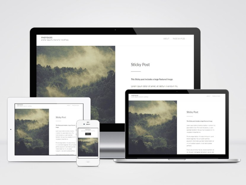 Photolog – Minimalist Blogging WordPress Theme