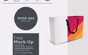 Free Photorealistic Paper Bag Mockup