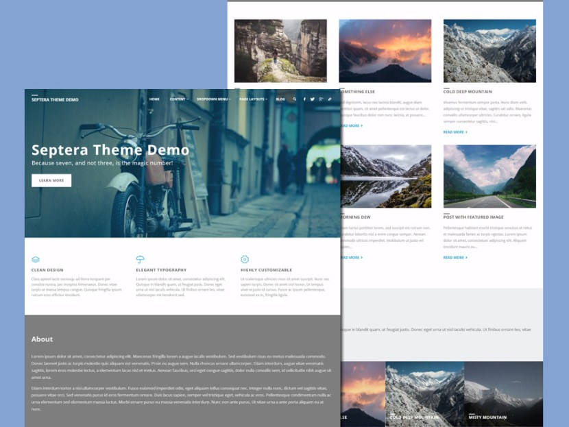 Septera – Free Business WordPress Theme