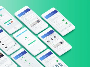 Story Writing App UI PSD