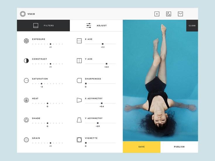 VSCO Desktop UI Design PSD