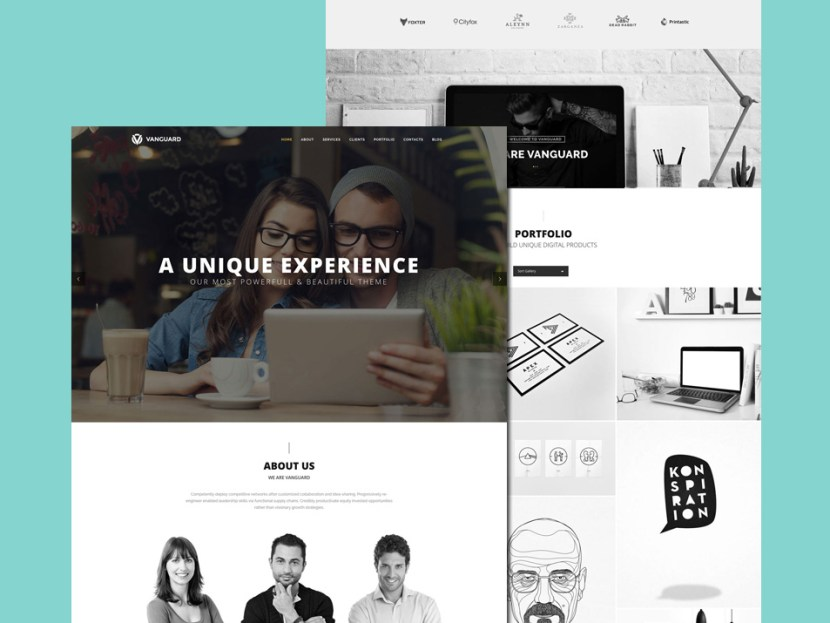 Vanguard – One Page PSD Template