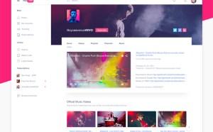 Youtube Website PSD Template