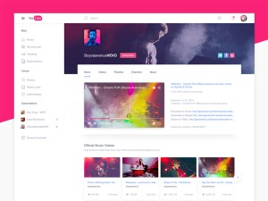 Youtube Website PSD Template