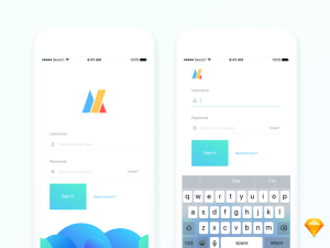 iOS Login Screen UI Design