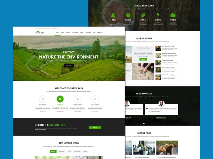 Free Environment Website Template