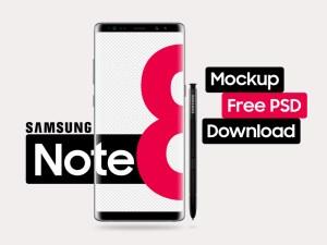 Free Galaxy Note 8 Mockup