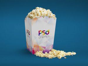 Popcorn Packaging Mockup PSD
