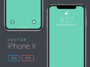 Free Vector iPhone X Mockup