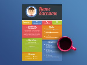 Free Attractive Colorful Resume Template