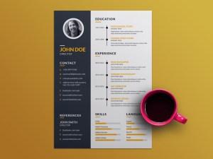 Free Creative Resume Template with Elegant Design