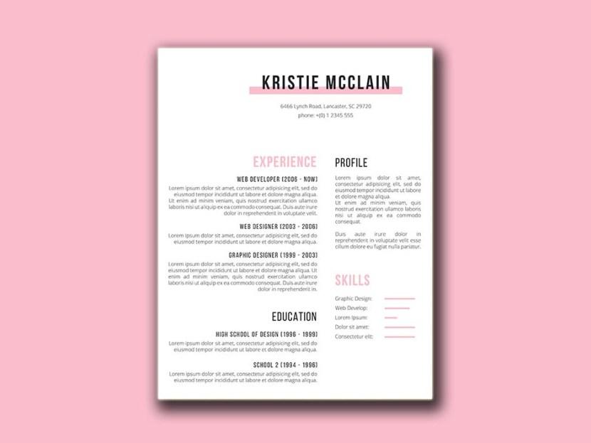 Free Crisp And Clean CV Template