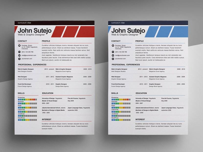 Free Elegant Resume/CV Template for Designers