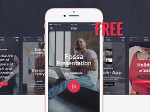 Fossa Mobile Ecommerce UI Kit