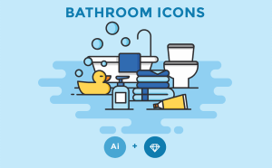 Free Bathroom Icon Set