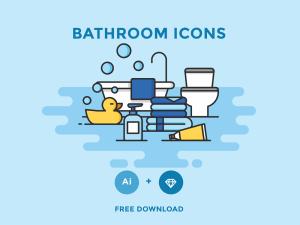Free Bathroom Icon Set