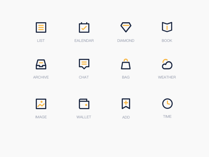 Free Black and Yellow Icon set