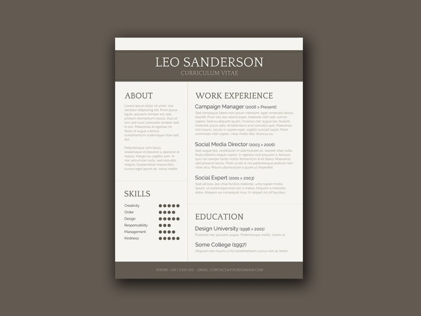 Free Conservative CV Template
