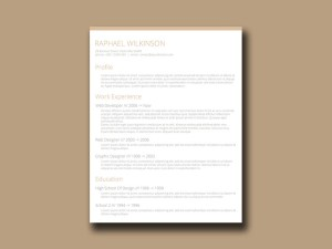 Free Crafty Resume Template