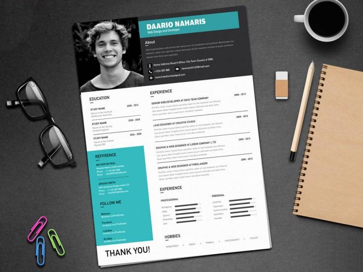 Free Creative Classy Resume Template