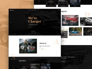 Free Custom Car Website Template