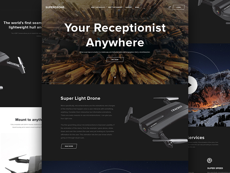 Free Drone Website Template