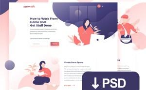 Free Flat Job Website Template