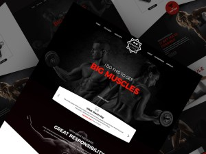 Free Gym Website Template