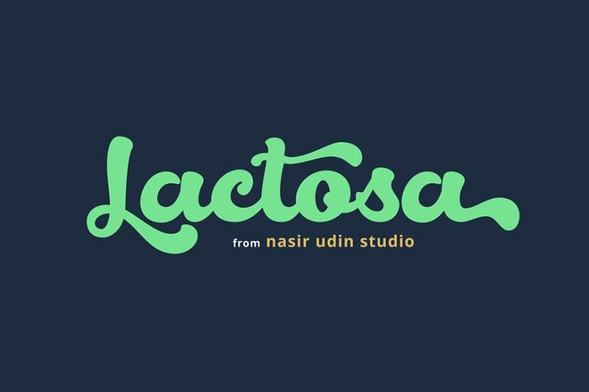 Lactosa - Free Bold Script Demo Font