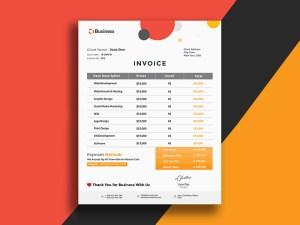 Free Minimal Invoice PSD Template