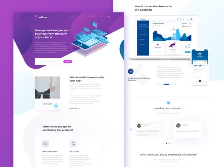 Free Modern Startup Landing Page Template