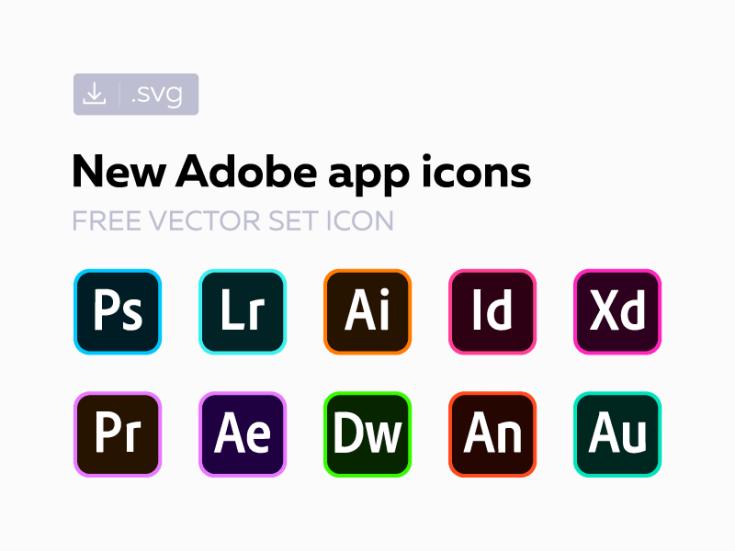 Free New Adobe СС Icon Set