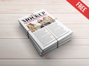 Free Newspaper Ads Mockup PSD