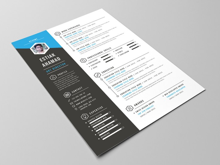 Free Resume, Portfolio and Cover Letter Template