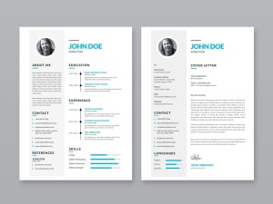 Free Resume Template with Portfolio and Cover Letter