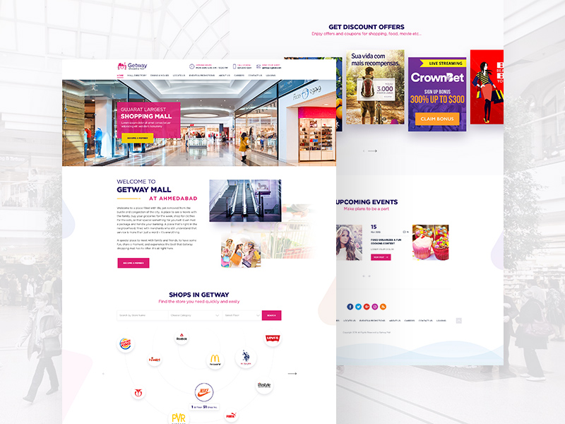 Free Shopping Mall Website Template