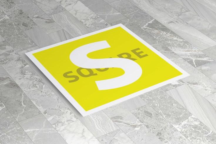Free Square Flyer Mockup PSD