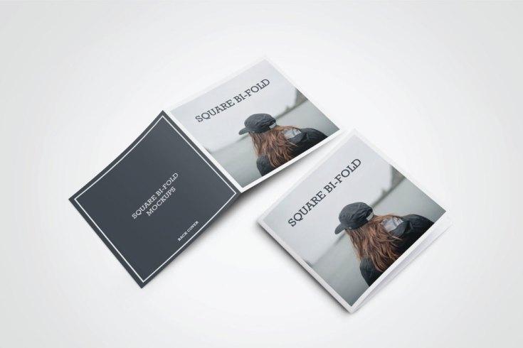 Free Square Greeting Card Mockup PSD