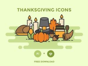 Free Thanksgiving Icon Set
