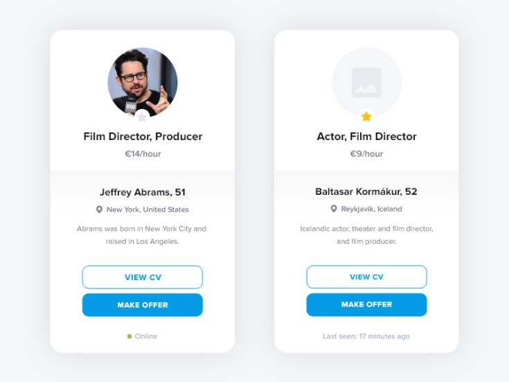 Free User Card Template