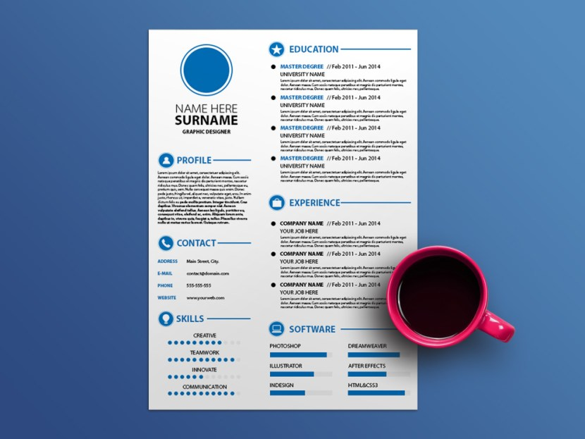 Free White CV Template