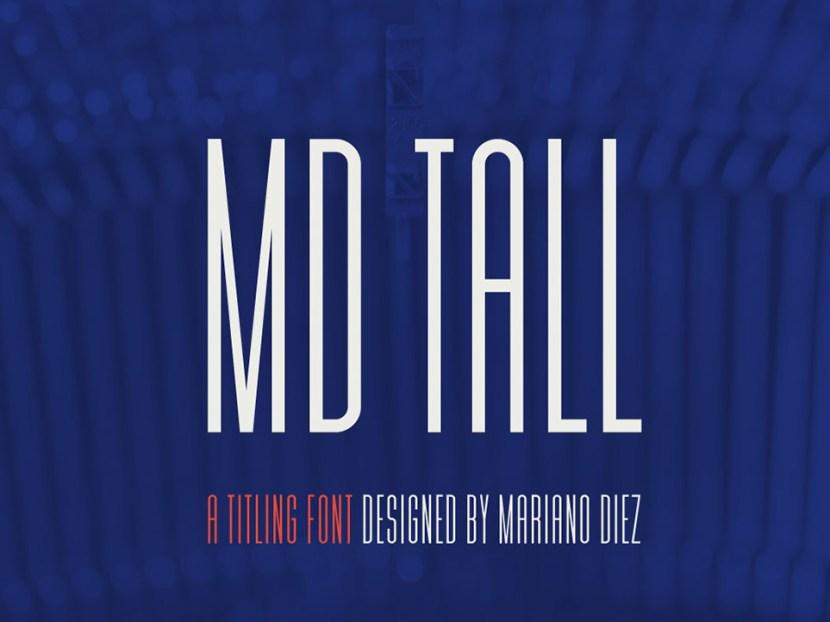 MD Tall Free Titling Font