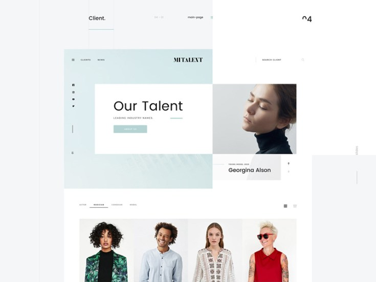 MI Talent – Free Agency PSD Website Template