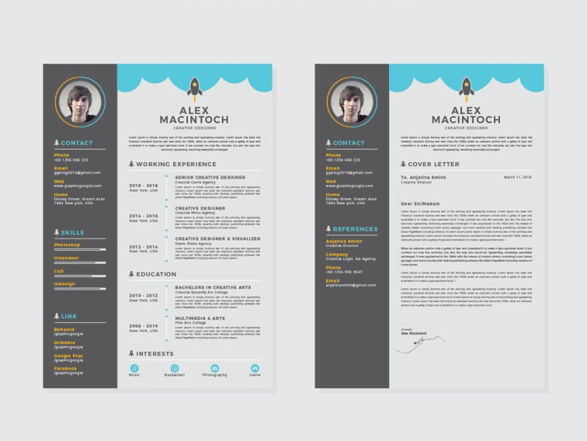 Free Creative Resume and Cover Letter Template