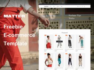 Matter - Free Sketch Ecommerce Website Template