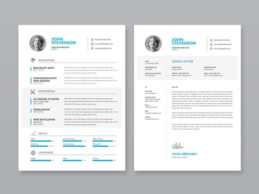 Minimalist Vector CV Template