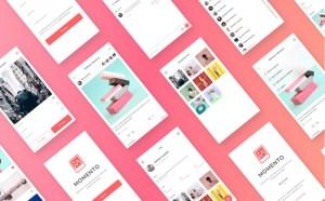 Momento - Free Social Media Sketch UI Kit